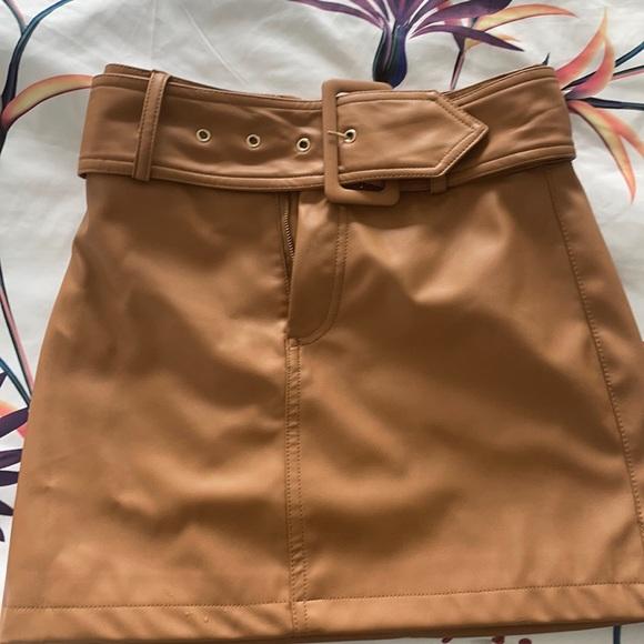 Cutest Pleather Skirt